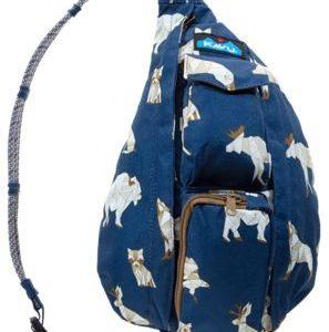 KAVU Mini Rope Sling Bag - Navy Range