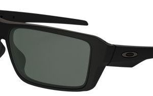 Oakley Double Edge 009380 Sunglasses - Matte Black/Dark Grey - Standard