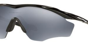 Oakley M2 Frame XL OO9343 Polarized Sunglasses - Polished Black/Black Iridium Mirror