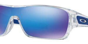 Oakley Turbine Rotor OO9307 Sunglasses - Polished Clear/Sapphire Iridium Mirror - Standard