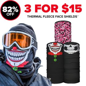 Alpha Defense Gear 3 For $15 Fleece Microfiber Cloth Face Shield™ - DA-P88030-OUT5