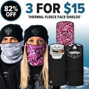 Alpha Defense Gear 3 For $15 Thermal Fleece Face Shields® / Multi-Use Tubular Bandana - DA-P88030-EM15
