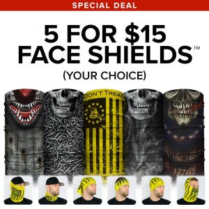 Alpha Defense Gear 5 Microfiber Cloth Face Shield Pack - SA-FB-5PACK