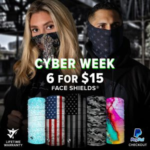 Alpha Defense Gear 6 for 15 Face Shield® Pack / Alpha Defense Gear - DA-5PACK-FB-55