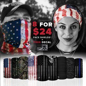 Alpha Defense Gear 8 for $24 Microfiber Cloth Face Shield® Pack - DA-P88031-FB-DOM5