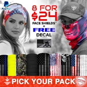 Alpha Defense Gear 8 for $24 Microfiber Cloth Face Shield® Pack - DA-P88031-GG5