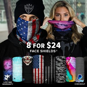 Alpha Defense Gear 8 for $24 Microfiber Cloth Face Shield® Pack - DA-P88031-SC