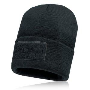 Alpha Defense Gear Alpha Beanie / Black / Patch / Polyester/Cotton
