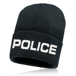 Alpha Defense Gear Alpha Beanie / Black / Police / Polyester/Cotton
