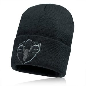 Alpha Defense Gear Alpha Beanie / Black / Sharp Shot / Polyester/Cotton