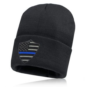 Alpha Defense Gear Alpha Beanie / Black / Thin Blue Line / Polyester/Cotton