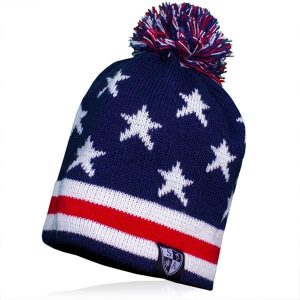 Alpha Defense Gear Alpha Beanie / USA Pom Beanie / Polyester/Cotton / Red/White/Blue