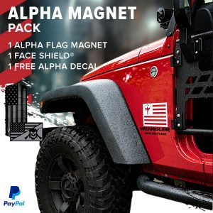 Alpha Defense Gear Alpha Flag Magnet Pack + Alpha Face Shield® - DA-P88206-FB