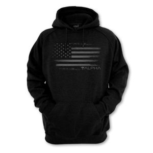 Alpha Defense Gear Alpha Hooded Sweatshirt / Black / Freedom / Size S / Polyester/ / Cotton