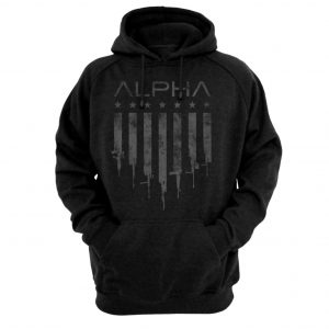 Alpha Defense Gear Alpha Hooded Sweatshirt / Blackout / Gunner / Size S / Polyester/ / Cotton