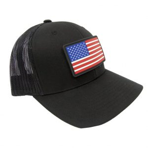 Alpha Defense Gear American Flag Patch Black Snap Back Hat