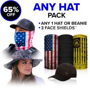 Alpha Defense Gear Any Hat Pick Your Pack / Includes: Face Shield™, Alpha Hat - DA-P88131-EM10
