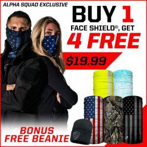 Alpha Defense Gear BUY 1 FACE SHIELD®, GET 4 FREE! - DA-5PACK-EM30