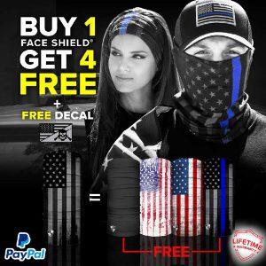 Alpha Defense Gear BUY 1 FACE SHIELD®, GET 4 FREE! - DA-5PACK-FB-DOM315