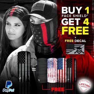 Alpha Defense Gear BUY 1 FACE SHIELD®, GET 4 FREE! - DA-5PACK-FB-DOM320