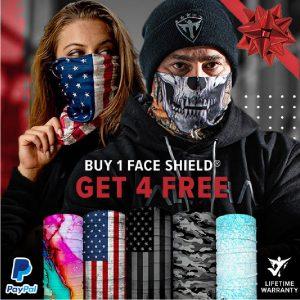 Alpha Defense Gear BUY 1 FACE SHIELD®, GET 4 FREE! - DA-5PACK-FB-DOM330-2