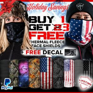 Alpha Defense Gear BUY 1 FLEECE FACE SHIELD® GET 3 FREE - DA-P88030-FB-DOM30