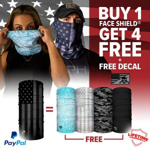 Alpha Defense Gear BUY 1 Microfiber Cloth Face Shield®, GET 4 FREE! - DA-5PACK-TK5