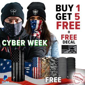 Alpha Defense Gear BUY 1 Microfiber Cloth Face Shield®, GET 5 FREE! - DA-5PACK-DD5