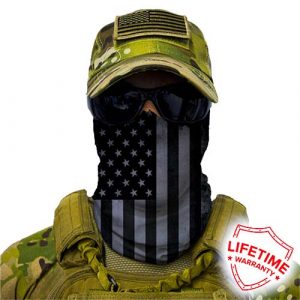 Alpha Defense Gear Blackout American Flag Face Shield™ / Multi-Use Tubular Bandana
