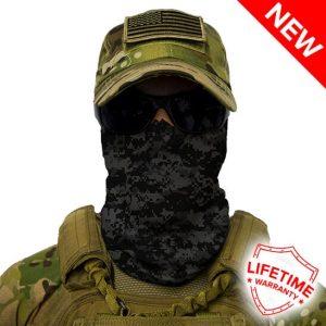 Alpha Defense Gear Blackout Digi Camo Face Shield™ / Multi-Use Tubular Bandana / Polyester