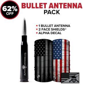 Alpha Defense Gear Bullet Antenna Pack / Build Your Pack - DA-P88193-EM5