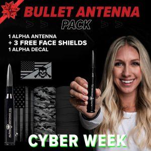 Alpha Defense Gear Bullet Antenna Pack - DA-P88192-NY5