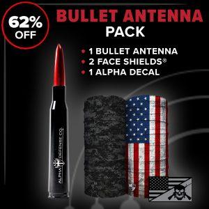 Alpha Defense Gear Bullet Antenna Pack - DA-P88192-QR1