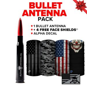 Alpha Defense Gear Bullet Antenna Pack - DA-P88192-RT15