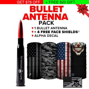 Alpha Defense Gear Bullet Antenna Pack - DA-P88192-RT20