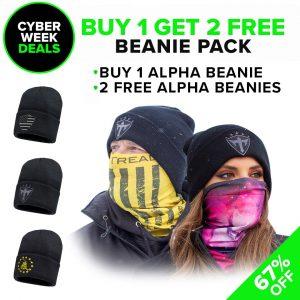 Alpha Defense Gear Buy 1, Get 2 Free Alpha Beanies / Pick Your Pack - DA-P88214-CM