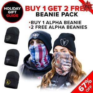 Alpha Defense Gear Buy 1, Get 2 Free Alpha Beanies / Pick Your Pack - DA-P88214-GG