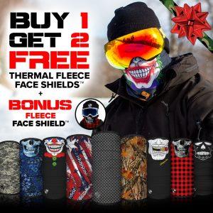 Alpha Defense Gear Buy 1, Get 2 Free Fleece Face Shields™ + Bonus Fleece Face Shield™ / Multi-Use Tubular Bandana - DA-P88086-FB-DOM5