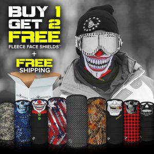 Alpha Defense Gear Buy 1, Get 2 Free Fleece Face Shields™ and Shipping / Multi-Use Tubular Bandana - DA-P88030-FB-DOM15