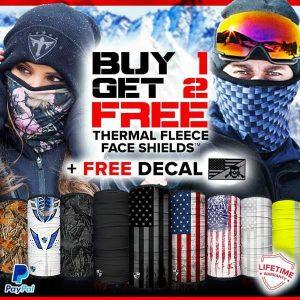 Alpha Defense Gear Buy 1, Get 2 Free Frost Tech™ Fleece Face Shields / Pick Your Pack / Multi-Use Tubular Bandana - DA-P88030-FB-DOM5
