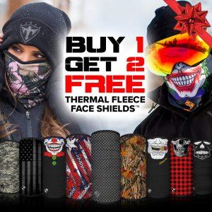 Alpha Defense Gear Buy 1, Get 2 Free Frost Tech™ Fleece Face Shields / Pick Your Pack / Multi-Use Tubular Bandana - DA-P88030-GO5