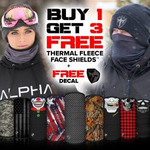 Alpha Defense Gear Buy 1, Get 3 Free Frost Tech™ Fleece Face Shields and Decal Sticker / Pick Your Pack / Multi-Use Tubular Bandana - DA-P88170-GO5
