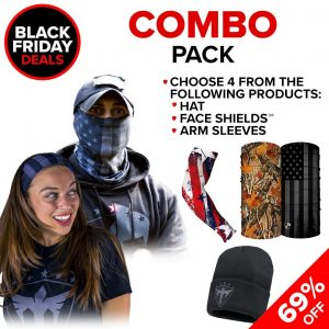 Alpha Defense Gear Combo Pick Your Pack / Includes: Face Shield™, Decal Sticker, Hat - DA-P88166-BF