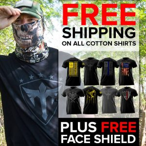 Alpha Defense Gear Cotton T-Shirt and Face Shield™ - DA-P88114