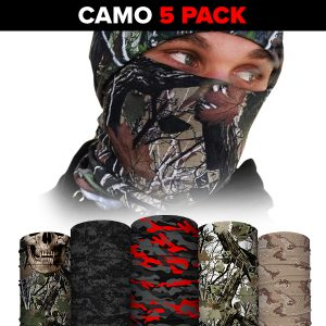 Alpha Defense Gear Face Shields 5-Pack / Multi-Use Tubular Bandana - DA-5PACK-PRE15