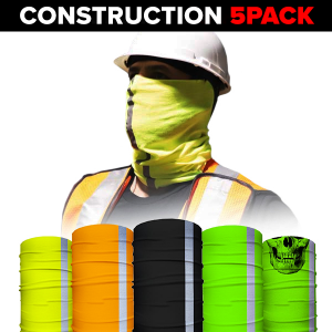 Alpha Defense Gear Face Shields 5-Pack / Multi-Use Tubular Bandana - DA-5PACK-PRE20