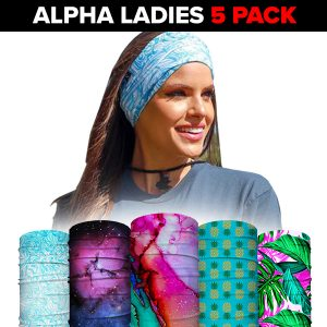 Alpha Defense Gear Face Shields 5-Pack / Multi-Use Tubular Bandana - DA-5PACK-PRE35