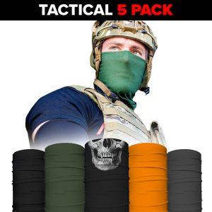 Alpha Defense Gear Face Shields 5-Pack / Multi-Use Tubular Bandana - DA-5PACK-PRE40