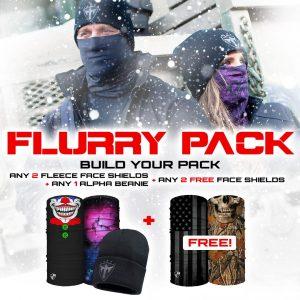 Alpha Defense Gear Flurry Pick Your Pack / Includes: Microfiber Cloth Face Shield™, Decal Sticker, Beanie Hat - DA-P88014-PD5-GO