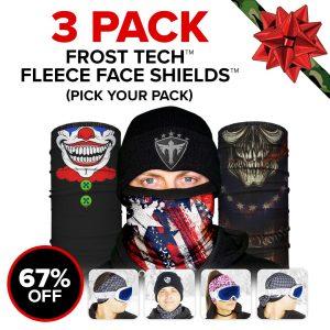 Alpha Defense Gear Frost Tech™ 3 Pack Fleece Face Shields / Pick Your Pack / Multi-Use Tubular Bandana - DA-P88030-PD5